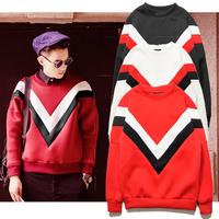 2014 fashion sweatshirt winter red black white coat tracksuit hip hop sweat suit free hoodie jacket crewneck basketball
