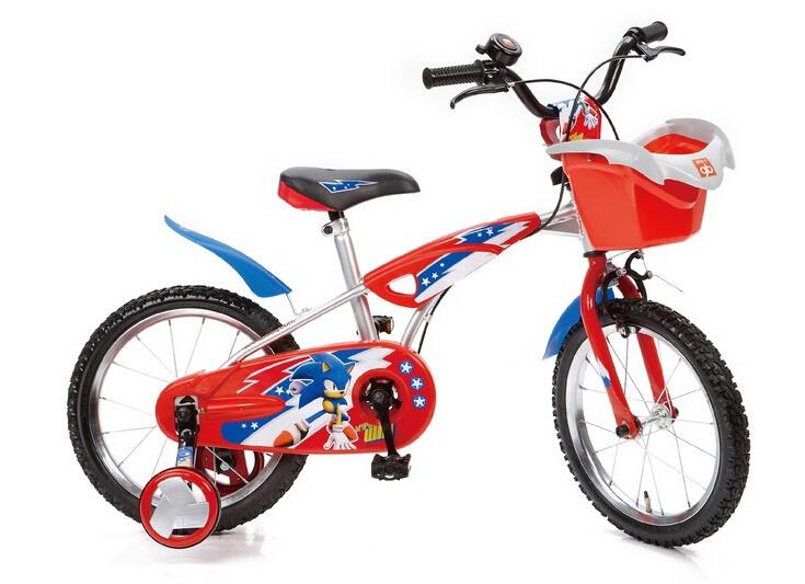 "Free shipping 1pcs Sonic 16"" wheel BMX kids children red bicycle bike via DHL/EMS.(China (Mainland))"