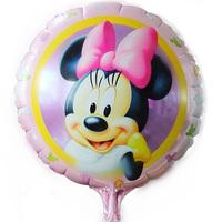 New arrive 50pcs/lots wholesales Minnie balloon Birthday party Printed cartoon balloons Hot Free shipping