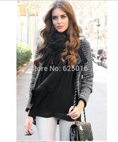 2014 New Fashion Autumn and Winter Women  Coats Fashion Long Sleeve coat Knitted Cardigan Coat Windbreaker