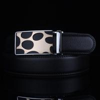 2014 Winter New Korean men's leather belts men's leather belt of high-grade alloy leopard Automatic belt explosion models