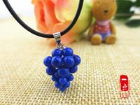 Natural blue crystal small grape pendant fashion Women  fashion pendant wholesale