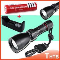 New 2000 Lumens CREE XM-L T6 LED Waterproof Flashlights 80M Underwater Scuba Diving Flashlight Torch Flash Light Lanterna Lamp