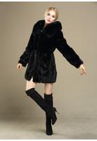 2014 winter warm new woman fashion slim mink fur long O-neck fashion  faux fur coat faux fur jacket long-sleeved fur outwear