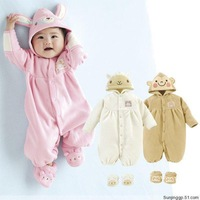 2014 New Arrive Baby Romper For Winter Carters Boy And Girl Brand Long Sleeve Fleece Jumpsuits Rompers 3 Models Clothing 0-2T