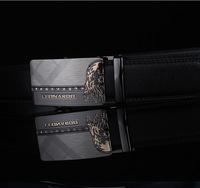 International big band classic diamond alloy automatic buckle belt men's leather belt leather belt boutique Free Shipping