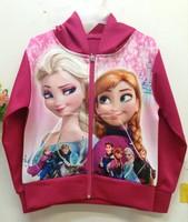 4 Designs New Frozen Girl's rose red Coats Girls Frozen princess Jacket  Kids Outwears Casual Sports Jackets Frozen Coat 120 pcs