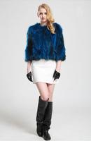 2014 new short section raccoon fur coat fur jacket winter warm fur outwear long-sleeved natural luxury fur jacket fashion solid
