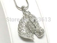 12pieces/lot fashion alloy animal pendant necklace 3.2cm platinum horse head pendant necklace free shipping xy138