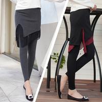 Autumn Winter Fashion Women's Pants Full Cotton Chiffon Skirt + Leggings Lady Elastic Panties Trousers Female Skinny Pant Capris