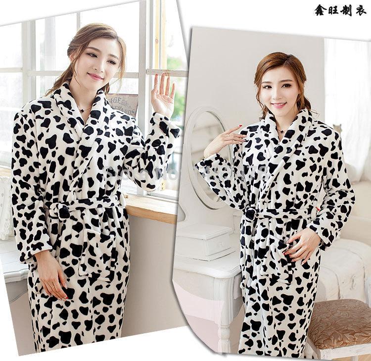 Free shipping high-quality winter women's flannel bath robe fresh Nightgown sleepcoat bathrobe super warm robe homewear nighty o(China (Mainland))