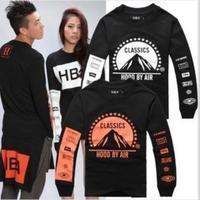 Free shipping 2014 Hood By Air HBA  Rocky ASAP HOT Mens Hoodies Plus Size  hiphop unisex  long sleeve sweatshirts, M-XL