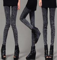 2015 Autumn New Slim Denim Leggings For Women Fashion High stretch skinny Faxu jeans Pencil pants female M L XL XXLDrop Shipping