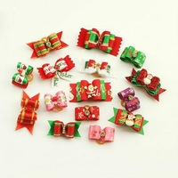 Small Mixed Package!!Christmas Holiday Pet Grooming Bows Accessories Handmade Bows Pet Hair Bows 60PC/Lot Free Shipping