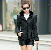 Women's Winter Stand Collar Shoulder Down Jacket Korean Style Fashion Hooded Down Coat WInter ParkA Warm tops Outerwear
