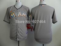 cheap stitched 2014 Miami Marlins  blank grey  men's baseball jersey/baseball shirt