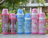 1pcs hello kitty cartoon mug Dora a dream double Viking shipping straw thermos bottle student