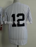 cheap stitched 2014 New York #12 Wade Boggs  men's baseball jersey/baseball shirt
