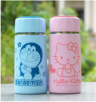 1pcs Foreign trade of the original single Hello kitty stainless steel vacuum flask thermos shipping Doraemon cartoon student