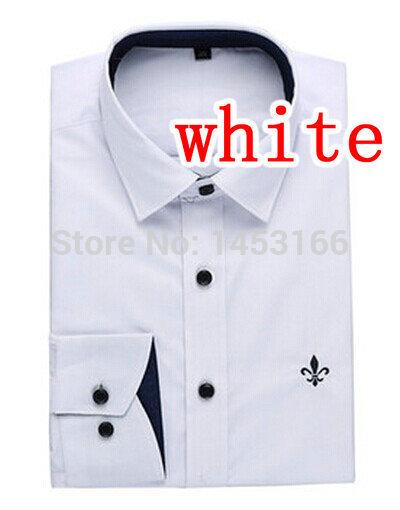 ss04 2014 homens slim fit blusa casual decote único elegante camisa de manga comprida camisas dudalina homens camisa vestido camisa social(China (Mainland))