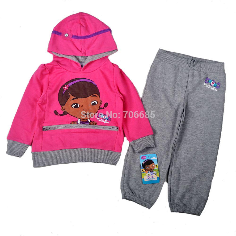 children't clothing set girl's fashion design little doctor kid's garment 2pcs 1 set,Freeshipping(China (Mainland))
