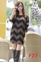free shipping 2014 5xl plus size women dress long sleeve winter dresses M L XL XXL 3XL 4XL 5XL vestidos