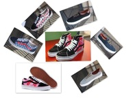 colro Pink-Black  free shipping comfortable,.striped,classical men's/woemen's high/low ,canvas shoes sneaker size us 4-10,35-45,