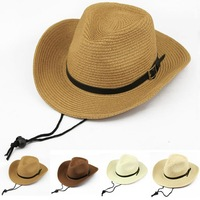 Strawhat male folding beach sunbonnet denim large brim hat summer sun-shading hat male fedoras