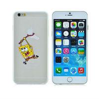 Ultra-thin light slim Creative SpongeBob SquarePants pattern cartoon cover fashion logo phone case For iphone 6 plus PT1433