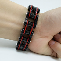 Korean Bicycle chain bracelet titanium steel men's titanium steel bracelet Highly polished bracelet