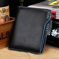 Men zipper wallet short wallet card type wallet multifunction wallet