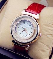 2014 new design brand Geneva Retro diamond temperament women quartz watch casual  fashion dress watch leather strap wrist watch