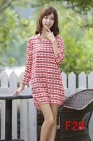 M L XL XXL 3XL 4XL 5XL vestidos free shipping women plus size warm dress maple leaf print long sleeve winter dresses autumn