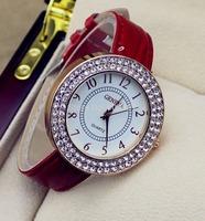 2014 new style brand Geneva ultra-thin  leather strap  women quartz watch casual  fashion dress watch wrist watch