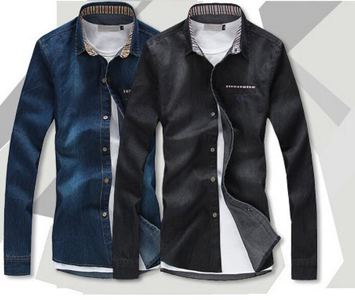 Cotton Jeans Shirts Cotton Men Jeans Shirt Men