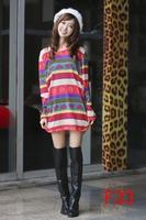 free shipping vestidos 2014 autumn winter women's dresses WARM plus size printed dress M L XL XXL 3XL 4XL 5XL 6xl F33