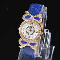 2014 ladies top quality brand Geneva fashion dress watches women love    diamond quartz wristwatches pu leather watch