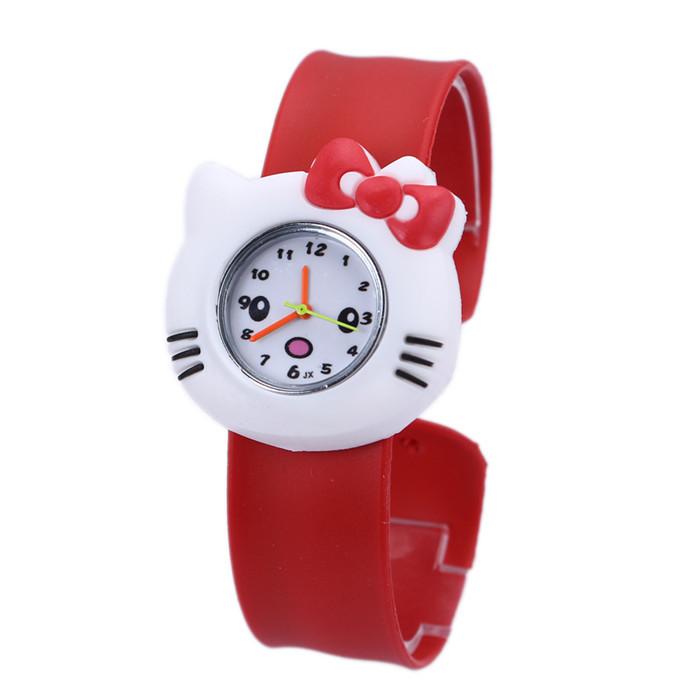 HOT Sale Brand 3D Kid Cartoon watches Hello Kitty Elephants Monkeys children sports High quality slap wristwatch(China (Mainland))