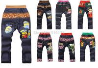 Free shipping new 2014 children jeans clothes boys jeans Male children pants faux denim boys pants spring and autumn kids denim