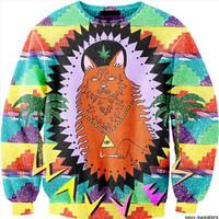 2014 New women's hoodies o neck long sleeve funny Lady gaga nude printing 3d sweatshirts women fashion sweatshirt 19models
