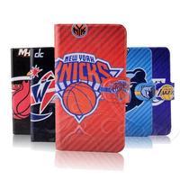 NBA Thunder basketball Jordon Lakers Heat leather flip mobile phone cover case for LG Optimus L50
