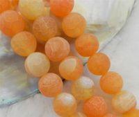 "10mm Orange Dream Fire Dragon Veins Agate Round Semi-precious stones Loose Beads 15"" AAA"