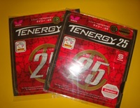 2pcs/lot Butterfly table tennis rubbers TENERGY 25   Butterfly 05810, RUBBER,1pcs black and 1pcs Red