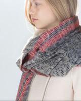 2014 new ZA navy colored stripes jacquard scarf women warm winter scarf original single thick