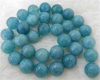 "8mm Brazilian Aquamarine Semi-precious stones Round Loose Beads 15"" Strand"