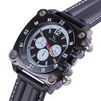 Men Sport Watch Quartz Movement Silicone Strap Analog Display Big Dial Military Waterproof Wristwatches Relogios Masculinos 2014