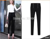 New Women Pants Plus Size Casual lulu Pencil Pantalones Zipper Leisure Leggings