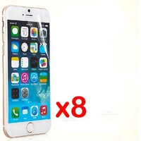 8pcs New CLEAR Skin LCD Screen Protector Guard Cover Film For APPLE iphone 6+ iphone 6 plus iphone6+ iphone6 plus