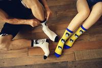 Cotton Jacquard  Siberian Husky  lover Socks  New 2014 Promotion HIGH QUALITY  Creative hosiery