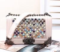 20140924 Free Shipping Fashion Popular Women's Handbag Pink Color Purse 5 Colors  427